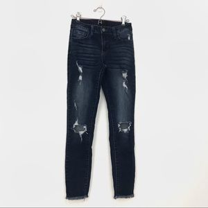 dark blue ripped jeans size 3
